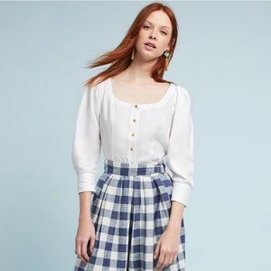 Anthropologie Maeve Button Down Blouse